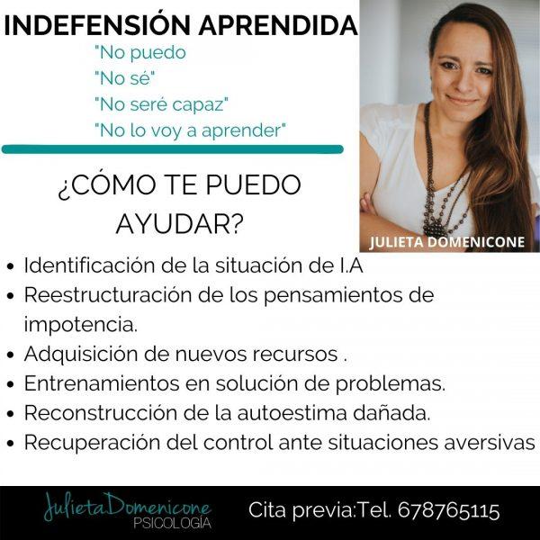 Psicólogos Granada Indefensión Aprendida